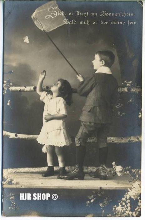 um 1910/1920 Ansichtskarte Kinder,  gelaufene Karte ohne Frankatur und minimalen Alters- und Beförderungsspuren leic
