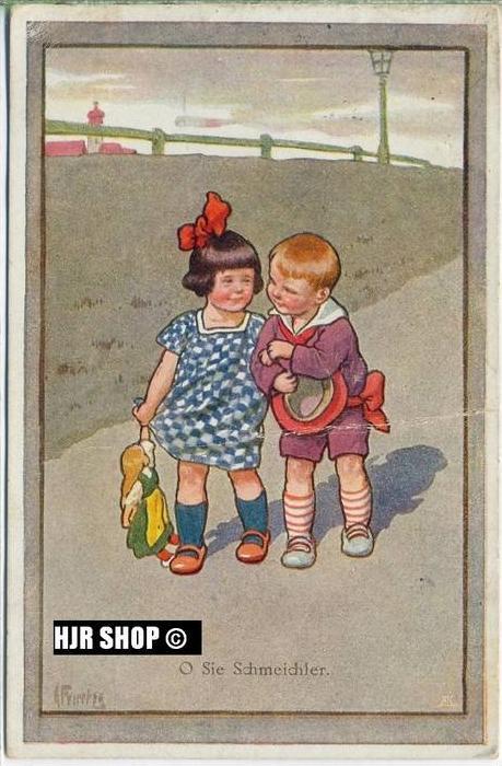 um 1910/1920 Ansichtskarte Kindr,  gelaufene Karte