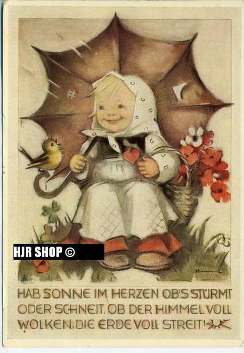 um 1950/1960 Ansichtskarte Kinder,  gelaufene Karte