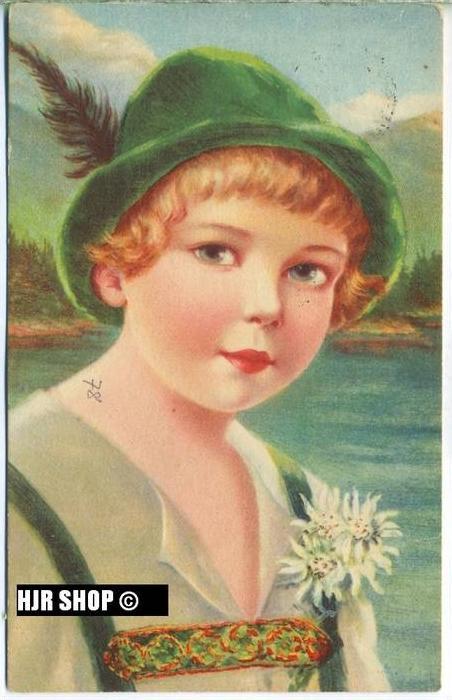 um 1920/1930 Ansichtskarte Mädchen
