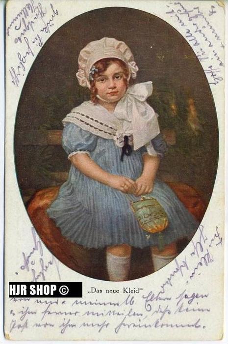 um 1910/1920 Ansichtskarte Das neue Kleid