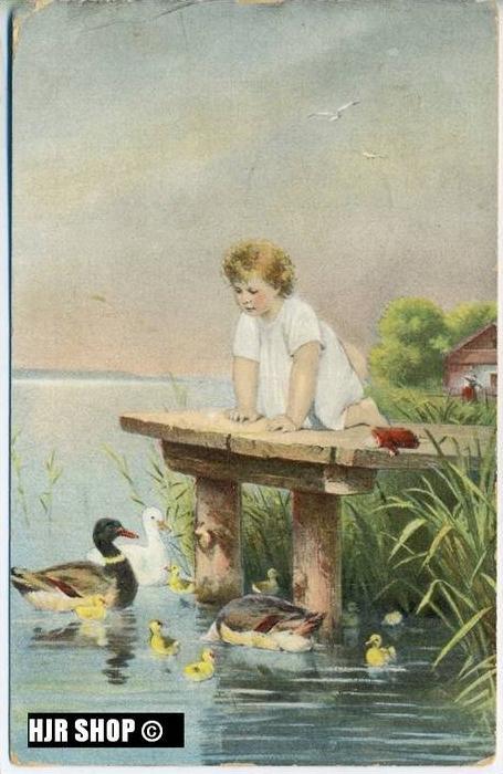 um 1910/1920 Ansichtskarte Am Teich