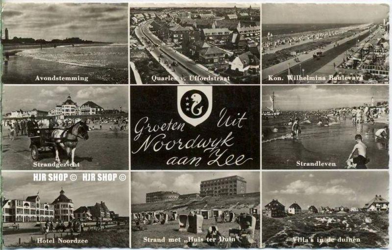 """um 1950/1960 Ansichtskarte,  """" Groeten Uit"""" mit Frankatur"""