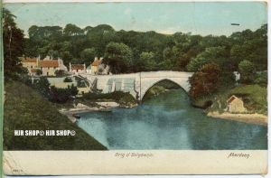 "um 1910/1920  Antsichtskarte,  ""Brig o`balgownjie  "" ohne Frankatur, Stempel,"