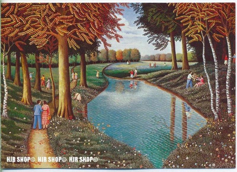 WIECHMANN – BILDKARTEN JAQUES FRANCOIS BLONDEL, Am Weiher, Nr.5128