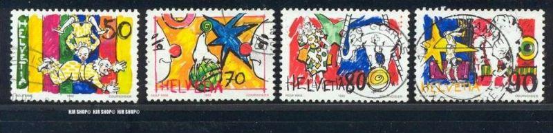 1992, Zirkuswelt, MiNr. 1478-1481 gest., Satz 4 W.
