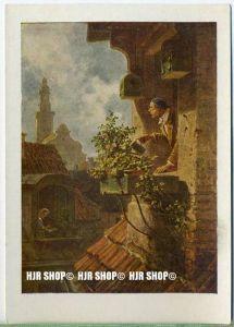 """"""" Das Dachstübchen, Carl Spitzweg""""   um 1920/1930,  Ansichtskarte, München, Neue Pinakothek"""