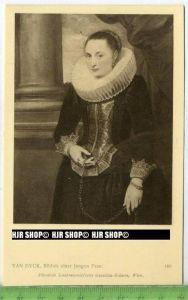 """""""Van Dyck, Bildnis einer jungen Frau"""" um 1900/1910 ungebrauchte Karte"""