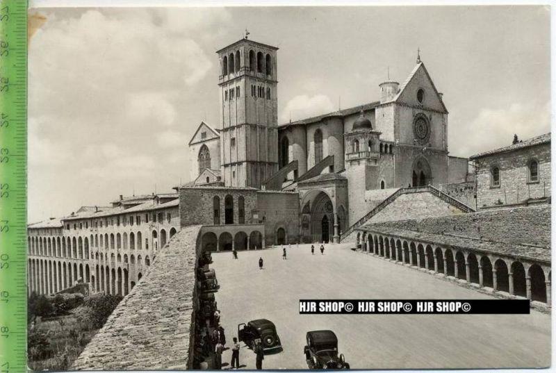 """Assisi, Basilika di San Francesco"" um 1930/1940 ungebrauchte Karte"