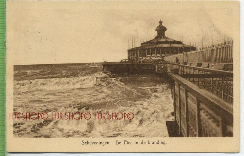Scheveningen De Pier in de branding um 1920/1930   Verlag:    Postkarte, LUFTPOST mit Frankatur, mit Stempel  UTRECHT-ST