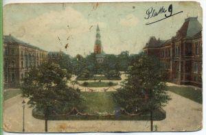 Zwickau, Albertplatz, um 1900/1910 Verlag: Ottmar Zieher, München, Postkarte  Erhaltung: III-IV Karte wird in Klarsichth