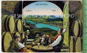 Bingen, Gruß vom Rhein Verlag: Conrad Jacobi, Leipzig. Postkarte mit Frankatur, mit Stempel, KÖLN  12.5.29 Erhaltung: I-