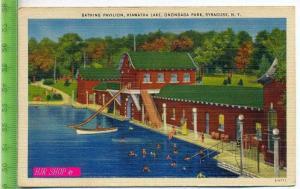 Bathing Pavillion, Hiawata Lake, Onondaga Park, Syrakuse,N.Y. Ungel.