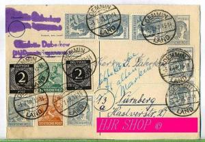 Ganzsache, 3.07.1948, letzter Tag vor Entwertung