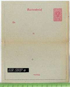 Kartenbrief, Deutschösterreich 40 Heller, rot Postfrisch