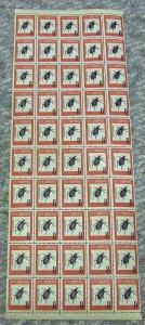 Bogenteil, Käfer 50 Marken, Mi.Nr. 737**, M€ 425,--