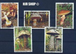 1992, 5 x  Pilze gest., auf Karte
