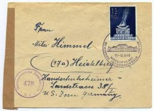 Zensurpost 1 x  Beleg mit österreichischer  Zensur. 17.09.1949