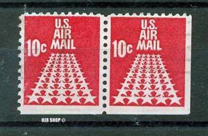 1968, 5. Jan. Flugpostmarke: Sternenstrasße, Minr. 939, Paar teilw. Ungezähnt, Gest.