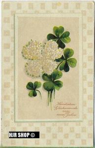 um 1910/1920 Ansichtskarte Blumen,  gelaufene Karte