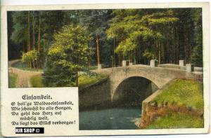 um 1910/1920 Ansichtskarte Einsamkeit