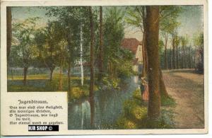 um 1910/1920 Ansichtskarte Jugendtraum