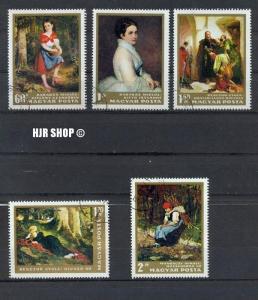 1966, 9. Dez. 1. Sog.-Ausg.Gemälde, Gest. Minr.2291-2295, Zustand: Gut