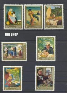 1967, 21. Dez. 3. Sog.-Ausg. Gemälde, SATZ(7w), MiNr. 2370-2376** Zustand: Gut