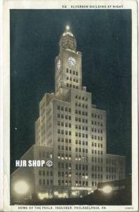 """um 1930/1940 Ansichtskarte """"Elverson Building"""",  gelaufene Karte"""