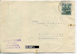Brief 1948 Magdeburg, Treuhänder Rudolf Ulrich, mit Bedarfsenwertung, Zustand: Gut