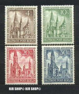 1953, Wiederaufbau, 106+107+108+109**, Satz 4 W
