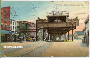 """um 1910/1920  Antsichtskarte,  """"Philadelphia  """" ohne Frankatur, Stempel,"""