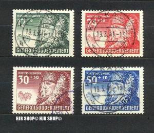 1940, Winterhilfe, MiNr. 59-62 gest., Satz 4W