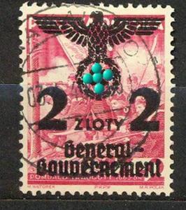1940, 20 Jahre Republik Polen, MiNr.28 gest
