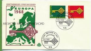 1968, Minr 559+560, FDC Zustand: sehr Gut
