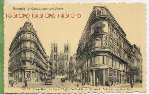 Brussels St. Gudule's street and Church Verlag:  Postkarte,  unfrankierte Karte ,  Erhaltung: I-II Karte wird in Klarsic