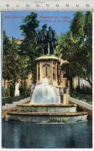 Monument des Comtes- Grafen Egmont und de Horn,  Brüssel Verlag----, Postkarte,  Erhaltung: I –II Karte wird in Klarsich