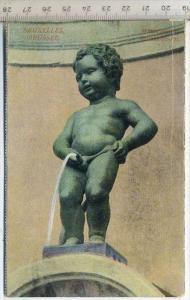 Manneken-Pis, Brüssel Verlag----, Postkarte,  Erhaltung: I –II Karte wird in Klarsichthülle verschickt.(M)