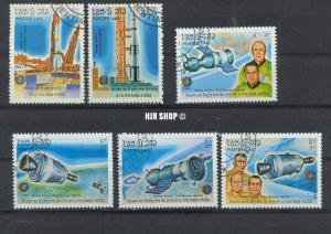 Konvolut, Raumfahrt, Laos 1985, gest. Zustand: Gut