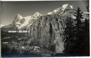 """um 1920/1930 Ansichtskarte,  """"Mürren, Eiger-Mönch-Jungfrau""""  ungebrauchte Karte"""