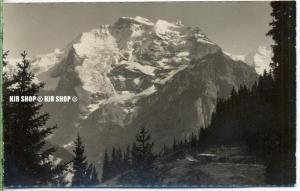 """um 1920/1930 Ansichtskarte,  """"Mürren,Jungfrau""""  ungebrauchte Karte"""
