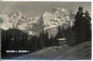 """um 1920/1930 Ansichtskarte,  """"Mürren, Bergbahn""""  ungebrauchte Karte"""