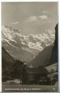 """um 1920/1930 Ansichtskarte,  """"Lauterbrunnental""""  ungebrauchte Karte"""