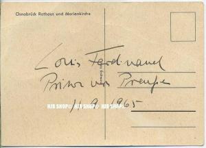 Osnabrück, 11.9.1965, Louis Ferdinand - Prinz von Preußen