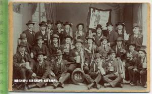 """""""Studenten um 1900."""", Ansichtskarte, ungebrauchte Karte"""