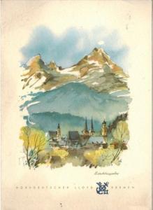 Menü-Karte, D. BREMEN, Montag, 24. Oktober 1960 Mittagessen Zustand: I-II, minim. Altersspuren