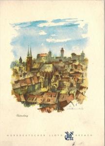 Menü-Karte, D. BREMEN, Dienstag, 25. Oktober 1960 Mittagessen Zustand: I-II, minim. Altersspuren