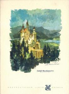 Menü-Karte, D. BREMEN, Dienstag, 25. Oktober 1960 Abendessen Zustand: I-II, minim. Altersspuren