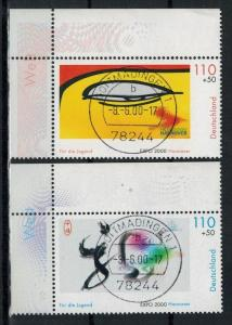 2000 , MiNr. 2120+2121 o, mit Randstreifen   Zustand: I-II
