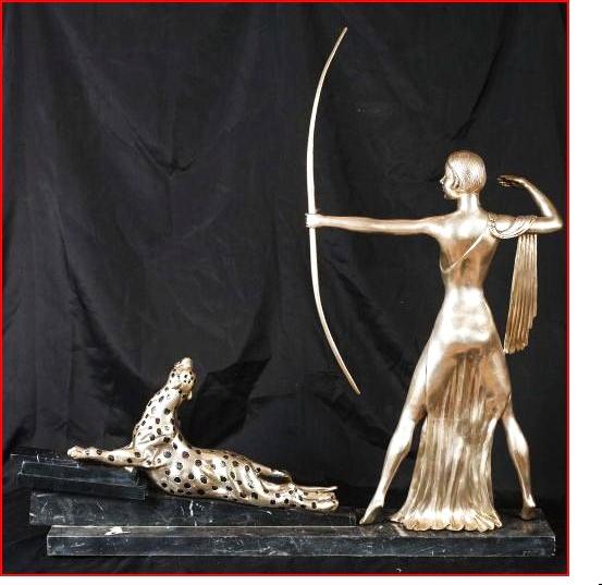 Art Deco Skulptur, Diana Bronze vers.,  1